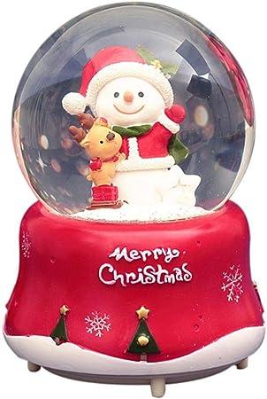 Childlike Bola De Nieve Navidad Globo De Nieve Cristal Bola De Cristal Navidad Bola Navidad Musical - Caja Musical Navidad De Flotante Brillante Santa - Regalo Creativo para Niños: Amazon.es: Hogar