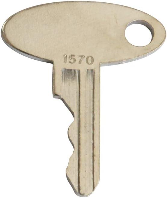Weelparz 1570 5252 ELI80-0089 Ignition Key 2PC Fit For Ford New Holland Tractor 1300 1320 1520 1530 1620 1630 1715 1720 1725 1920 1925 2120 3415 TC25 TC29 TC30 TC33 TC35 L465 L554 L565 LS140 LS150