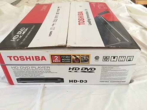- Toshiba HD-D3 HD DVD Player - Includes 2 - HD-DVD's + HDMI Cable