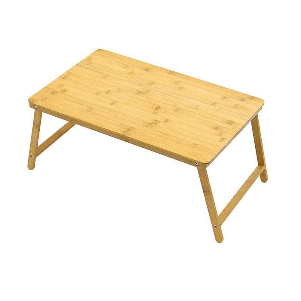 Arredonnato Tavolini Scrivania Pieghevole per Computer Portatile da scrivania in Legno Stand per Divano Letto in bambù per Il Disegno di Scrittura Crafting CJC (Dimensioni   80cm)