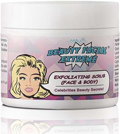 Exfoliating Cleanser Scrub for Face & Body–Exfoliates Dry, Rough Skin. Dark Spot Corrector for Sun Spots & Age Spots. Reduces Wrinkles & Acne Scars. Pore Minimizer & Blackhead Remover for Men & Women.