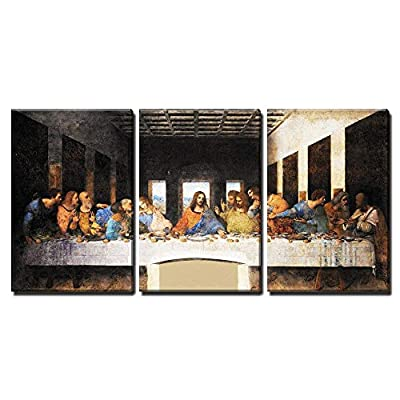 Lovely Portrait, With a Professional Touch, Last Supper Leonardo Da Vinci Wall Decor x3 Panels