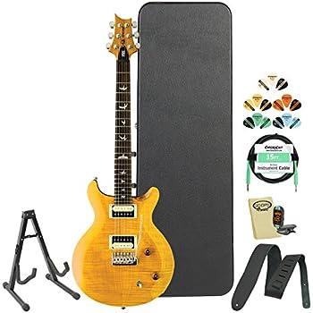 prs se santana cssy santana yellow electric guitar w accessories hard case. Black Bedroom Furniture Sets. Home Design Ideas