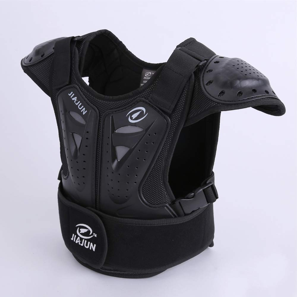 Children's Sports Protective Vest high Strength PE Sports Protective Equipment (Black, M) by Shindn (Image #5)