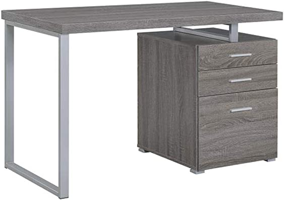 Coaster Home Furniture Brennan 3-Drawer Reversible set up Office Desk
