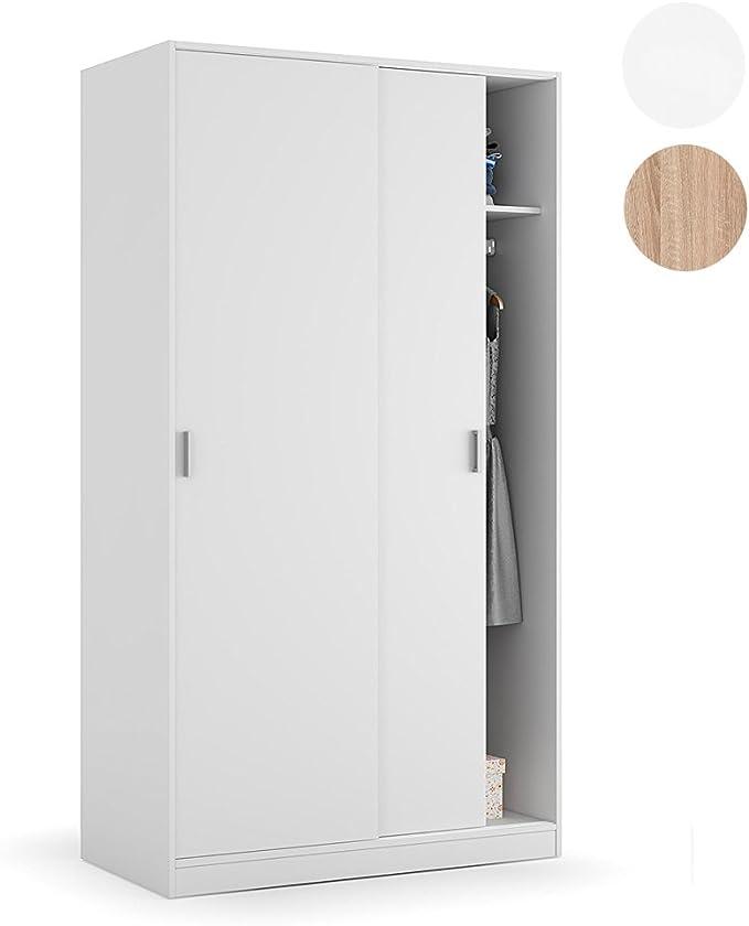 Habitdesign MAX019O - Armario Dos Puertas correderas, Color Blanco ...