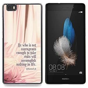 Queen Pattern - FOR HUAWEI P8 Lite - Ali Boxing Quote Floral Pink Message - Cubierta del caso de impacto con el patr???¡¯???€????€?????n Ar