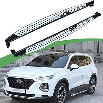 Hyundai Santa Fe 2013 Estribo paso Barra lateral pasos Bar Board Elegante