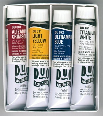 (Holbein Duo-Aqua Set of 4x 20ml tubes)