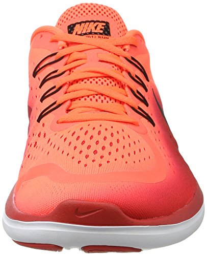 Nike Men's Free RN Sense Running Shoe, Scarpe Sportive Indoor Uomo Multicolore (Hyper Orange/Black-university Red-white)