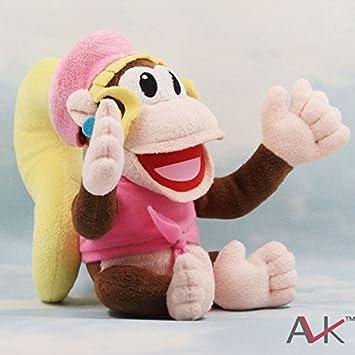 Nintendo Dixie Kong Super Mario Donkey Diddy Kong Novia Peluche Felpa Muñecas de Juguete 18cm