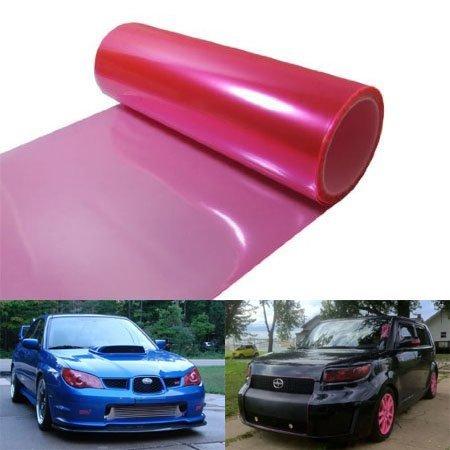 Fog Light Overlay (DIYAH 12 X 48 Inches Self Adhesive Headlight, Tail Lights, Fog Lights Tint Vinyl Film (Pink))