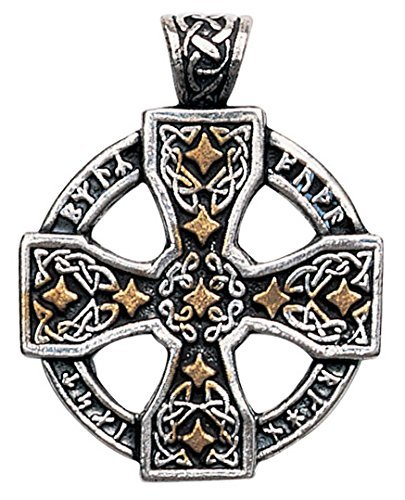 Nordic Lights Runic Celtic Cross Pendant Amulet Talisman for Knowledge and Magickal Ability by Enchanted Jewelry