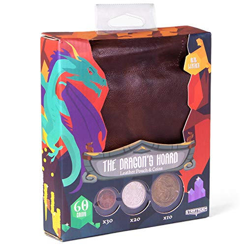 The Dragon's Hoard: 60 Real Metal Fantasy Coins with Leather Pouch | Board  Game Accessory for Tabletop RPG Role-Play Strategy Games | Bronze, Silver,