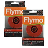 Flymo Cordless Multi Trim CT250 CT250X Strimmer Spool & Line (Pack of 2, FLY020)
