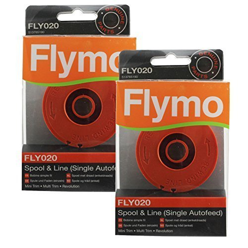 Flymo Cordless Multi Trim CT250 CT250X Strimmer Spool & Line (Pack of 2, FLY020) by Flymo
