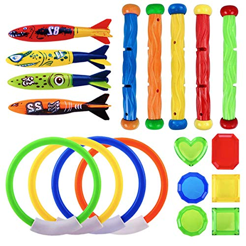 JUOIFIP Diving Toy Diving Rings & Stick and