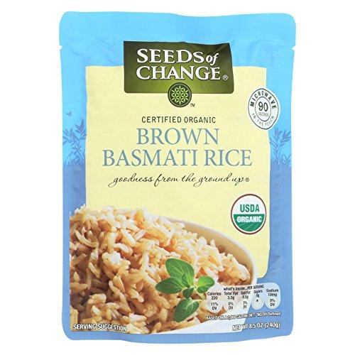 Seeds of Change Organic Rishikesh Brown Basmati Rice - Case of 12 - 8.5 oz. by Seeds Of Change