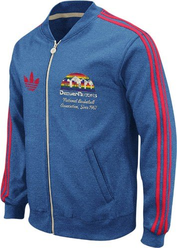 adidas Denver Nuggets Throwback Full Zip Vintage Track Jacket ...