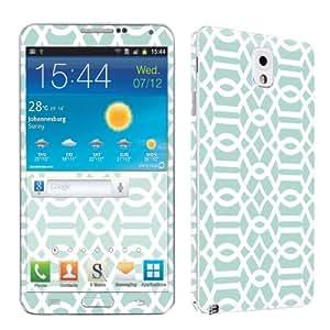 Samsung Galaxy Note 3 Vinyl Skin Decal Sticker By SkinGuardz - Teal Block