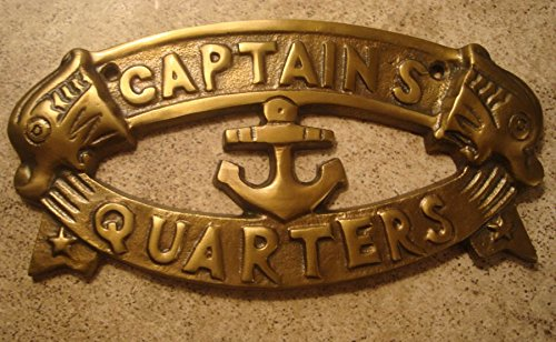 Brass Sailboat (Brass Captains Quarters Nautical Sailboat Anchor Sign Sailing Boat Home Decor)