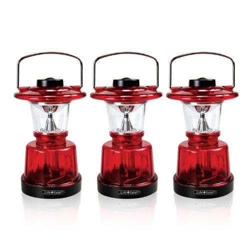 Life Gear Mini LED Glow Lantern with 3 light modes (lantern, nightlight & emergency flasher),- 3 PACK