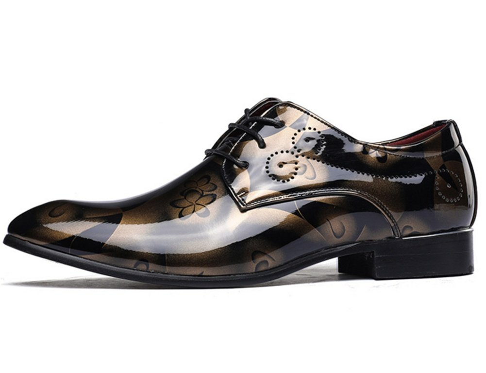 XIE Fashion Plus Größe 37-49 Herrenschuhe Glossy Casual Schuhe Schnürschuhe 37-49 Größe Gold d7888a