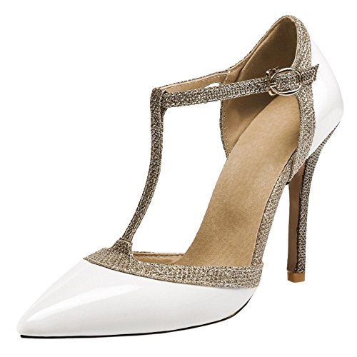 Chaussures Talons Femmes AicciAizzi Escarpins Aiguille White Salomes qZAxxXwPf