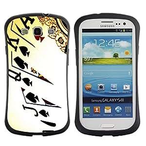 Suave TPU GEL Carcasa Funda Silicona Blando Estuche Caso de protección (para) Samsung Galaxy S3 I9300 / CECELL Phone case / / Cards Poker Ace King Queen Game Play Art /