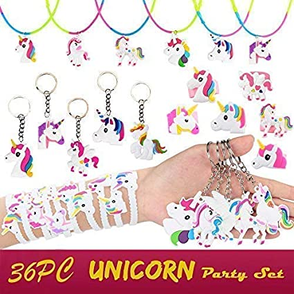 Amazon.com: Unicornio fiesta suministros, unicornio pulseras ...