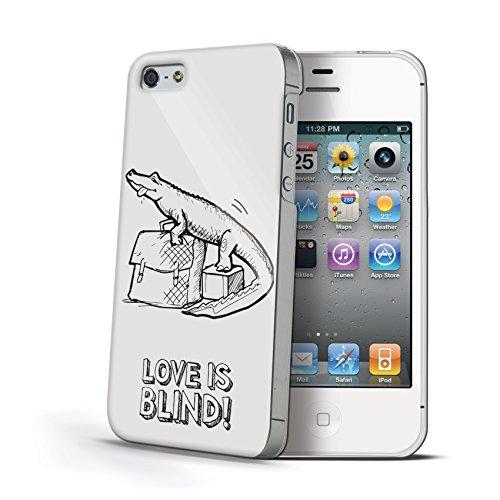 Celly BLINDIPH4CRO Love is Blind Kroco Plastik Schutzhülle für Apple iPhone 4/4S
