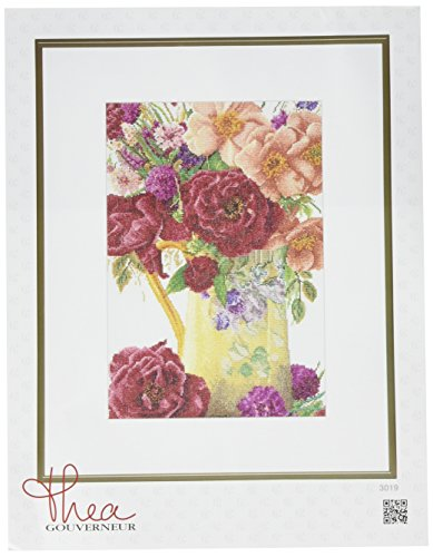 Thea Gouverneur 18 Count Counted Cross Stitch Kit, 9-1/2 by 13-1/2-Inch, Rose Bouquet on ()