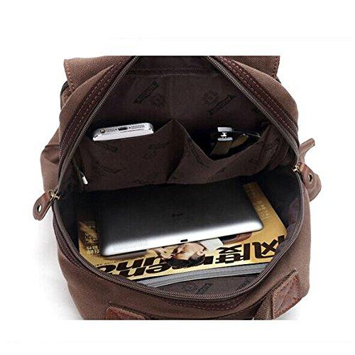 Sunbobo Brown Bag Simple Shoulder Messenger Zipper Zippered Retro Bag rEH8xnrqw