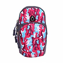 Sports Armband Double Pockets Camouflage Arm Bag Outdoor Cycling Sport Running Wrist Pouch Bag Water Resistant Fanny Pack for iPhone 7 6 plus 6s 6, Samsung Note 5 4 3, Nexus 5 -L Size