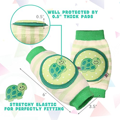 Ava & Kings Baby Knee Pads for Crawling - Babies Stuffs Gift Ideas for Infants - Protect Elbows and Legs w/Breathable Warmer Cotton and Anti-Slip Elastic - Unisex For Boys & Girls - Set of 3 by Ava & Kings (Image #5)