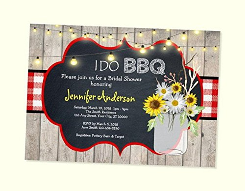amazon com i do bbq invitation barbecue couples shower invitation