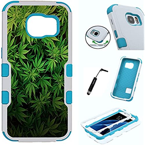 Galaxy S7 Case, 3in1 Shield Rugged Heavy Duty Armor Slim Tuff Case by Urakki - Galaxy S7 G930 [Weed Marijuana Sales