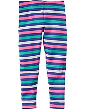 Carters Baby Girls Bright Stripe Leggings 18 Month Multi