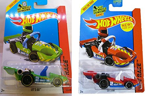 Hot Wheels 2014 Track Aces Let's Go Variant Set #165/250 Red & Green (Lego Character Compatible)
