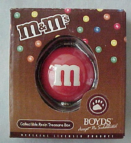 - Boyd M & M's RED Candy Hinge Box Treasure Keeper Surprise Inside Great Gift Idea