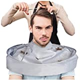Barber Cloak,Sunfei Umbrella Cape Salon Barber Salon And Home Stylists Using DIY Hair Cutting Cloak (Silver)