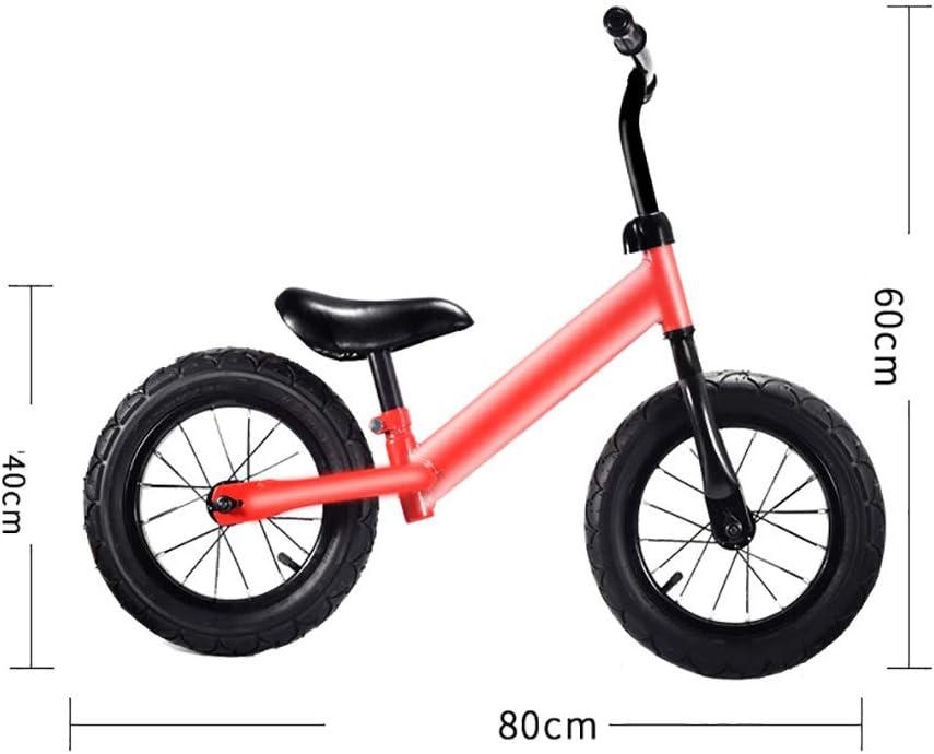 LYUHFGB Equilibrio Biker Spinge, 3-6 Ammortizzatore a Due Ruote Scooter Bambini Il Bambino di Anni Bicicletta Giocattolo Catena-Free Pneumatici Scooter,Blu Blue