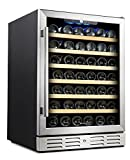 "Kalamera 24"" Wine Cooler 54 Bottle Single Zone Touch Control Built-in or Freestanding with Stainless Steel & Triple-Layer Tempered Glass Door and Temperature Memory Function Review"