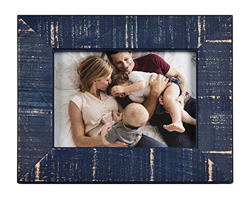 Fetco Home Decor Dennis Dark Blue 5x7 Picture Frame 5 x 7,