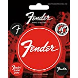Fender Sticker Adhesive Decal - Fender Loving Care, 5 Vinyl Stickers (5 x 4 inches)