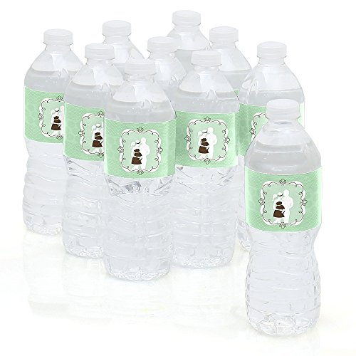 It's A Baby - Silhouette Couples - Baby Shower Water Bottle Sticker Labels - Set of 10