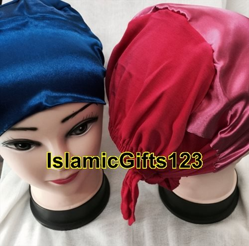 Scarf Abaya (Satin Islamic Hijab ( 6 Caps) Bonnet Under-scarf Tie Back,Satin Scarf - Inner Caps,Abaya,Nakab** ISLAMIC GIFTS 123 US Seller***)