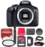 Canon EOS Rebel T6 DSLR Digital Camera Body Only (No Lens) with 32GB Ultra Pro Speed Class 10 SDHC Memory Card + Elite Optics Commander HD Series UV Filter + More! - International Version