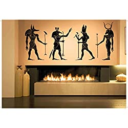 Wall Room Decor Art Vinyl Sticker Mural Decal Egyptian Gods Big Large AS1009