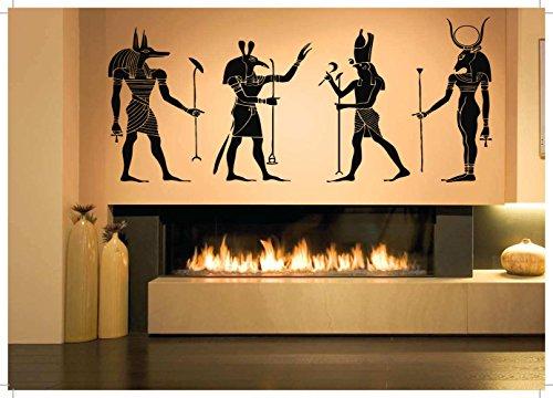 Símbolo egipcio Pegatinas de pared Pegatinas de vinilo Esfinge Antiguo Egipto Arte Mural Decoración para el hogar Dormitorio